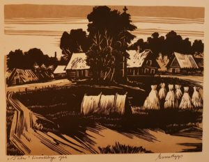 """Esko Lepp """"Talu"""" linoollõige 1966"""
