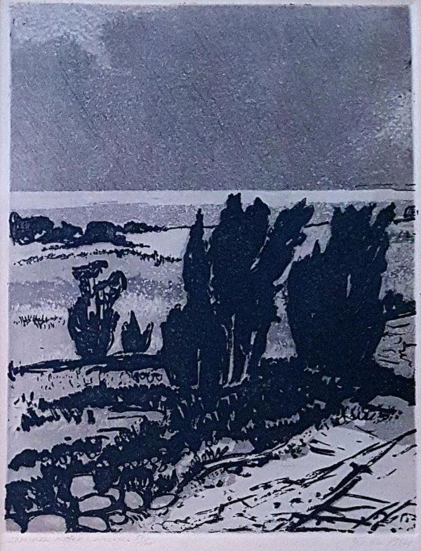 """Gita Teearu """"Saaremaa motiiv"""" söövitus 1966"""